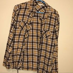 Brown and Yellow Girl's Flannel